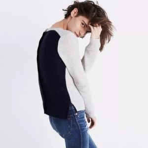 Madewell backroad back button sweater